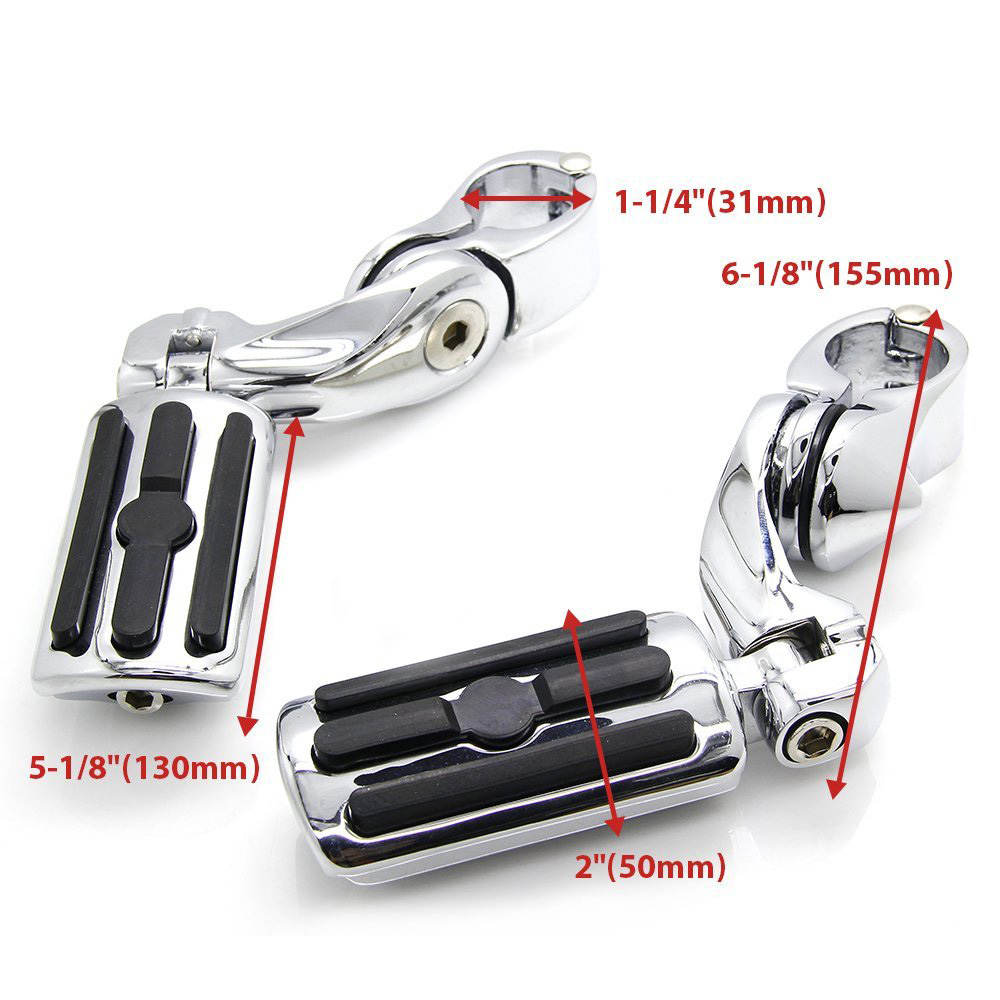Highway Pegs Foot Rests to fit 1.25 Engine Guard for Harley Davidson Road Glide, Electra Glide, Road King, Street Glide 7 inch led headlight motorbike suit 7headlight monting ring fog lights for harley davidson electra glide road king street glide