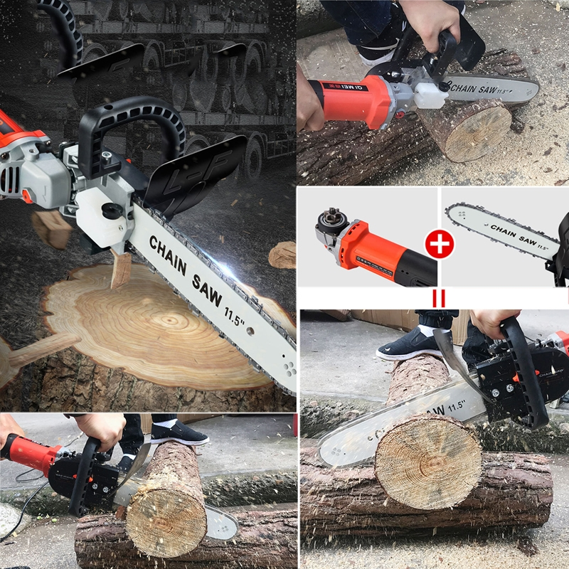 Electric Saw Parts 22 Chain Teeth 11.5 Inch for 100 Angle Grinder Chainsaw Bracket Changed Into Chain Saw Woodworking Power Tool