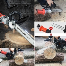 цена на Electric Saw Parts 22 Chain Teeth 11.5 Inch for 100 Angle Grinder Chainsaw Bracket Changed Into Chain Saw Woodworking Power Tool
