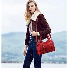 Women Fashion Handbags 2017New Boston Messenger Bags Large Capacity Shoulder Bag Cross Body Bag Female Brand Leather Casual Tote