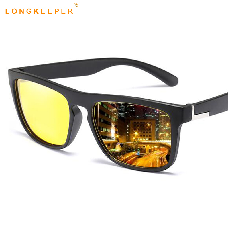 61f5b49ad2 Yellow Night Vision Sunglasses Men Women Driving Driver Sunglass AC Lens TR  90 Frame Cycle Eyeglasses Sun Glasses gafas de sol-in Sunglasses from  Apparel ...