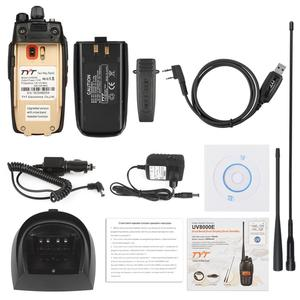 Image 5 - TYT UV8000E Handheld Transceiver Dual Band 10W Cross band Repeater Black Tri Power 3600mA Transceiver Radio Walkie Talkie Cable