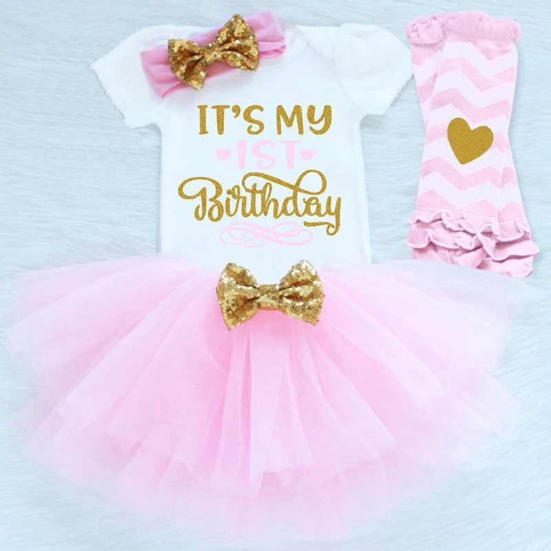 4ffb388e8 Baby Girl First Birthday Dress Infant Princess Winter Birthday Party tutu  Ball Gown Clothing Girls 3