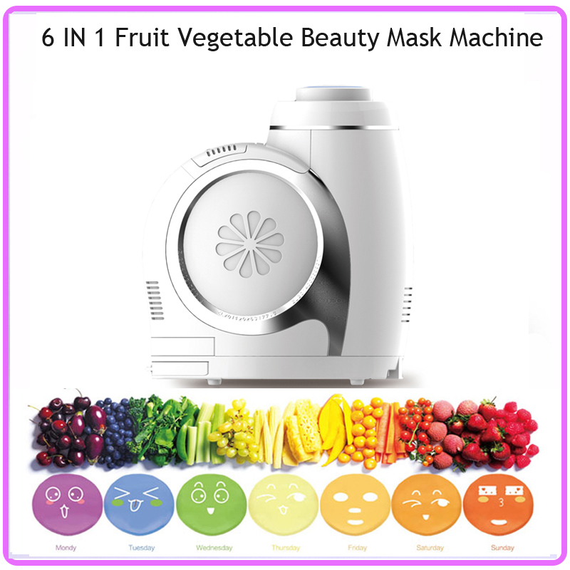 DHL Free Shipping 6 IN 1 Automatic DIY Fruit & Vegetable Beauty Mask Maker Machine For Face/Eye/Hand/Leg/Breast/Neck dhl free shipping 6 in 1 diy face eye hand breast foot neck natural fruit