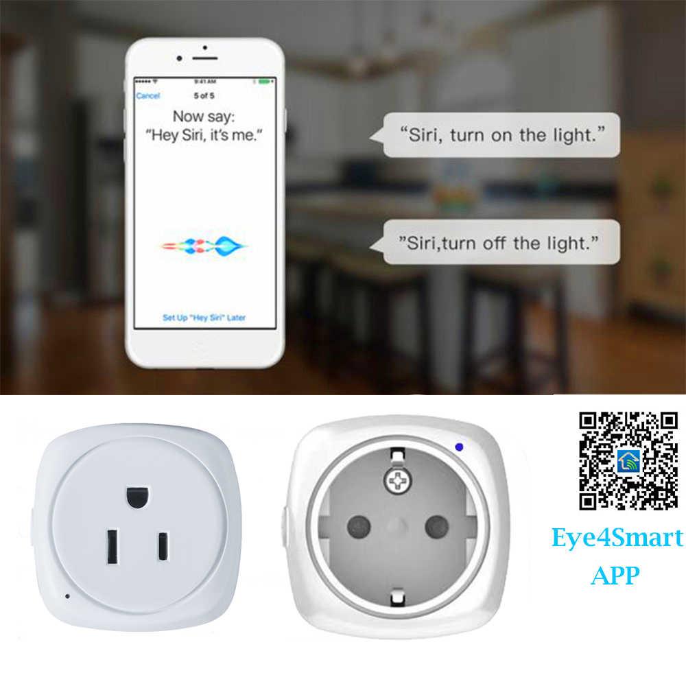 2.4GHz inteligentne gniazdo WiFi dla Apple Homekit US ue inteligentna wtyczka dla Alexa Google domu kontrolą głosu Siri nie ma potrzeby piasty