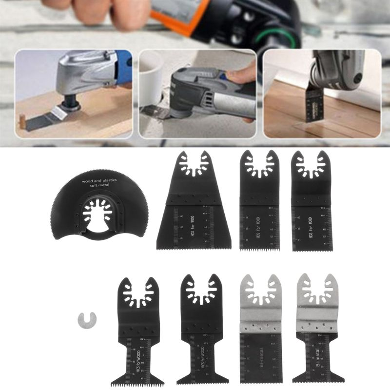7Pcs/Set Oscillating Multi Tool Saw Blades Set Multitool Blades Kit For Fein Makita Bosch