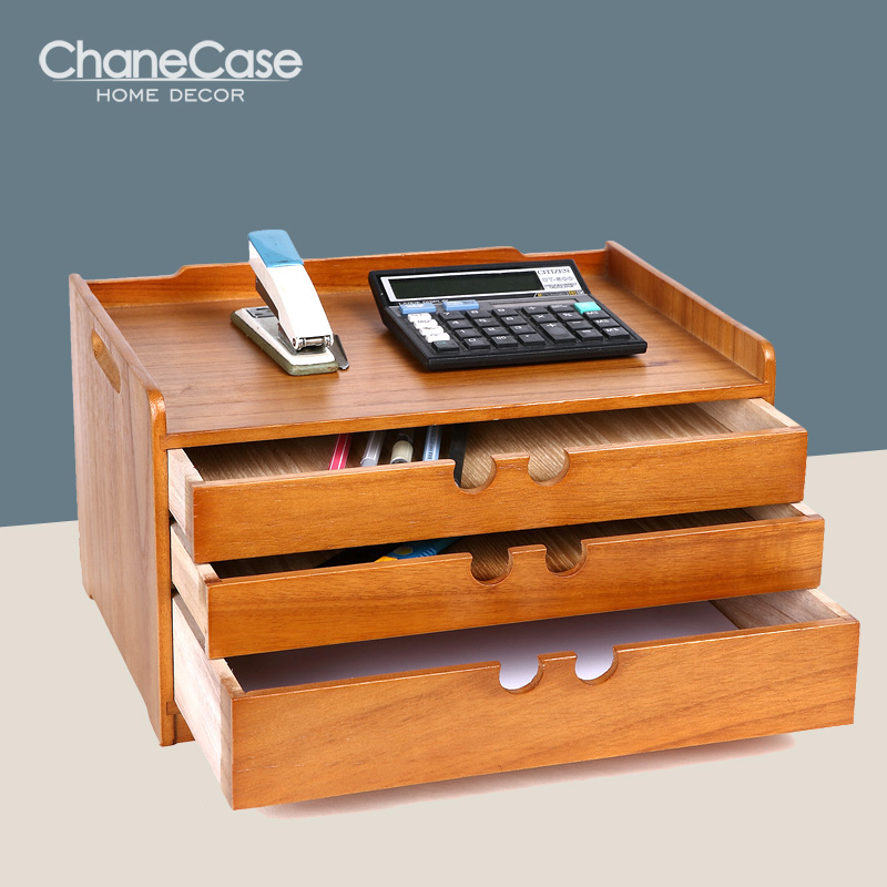 Home Office Storage Box A4 Paper Document Organizer Solid