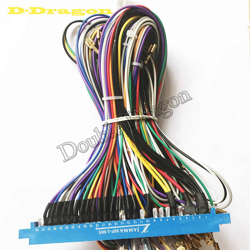 blue jamma harness 28 pin with 5,6 buttons wires for arcade game machine/