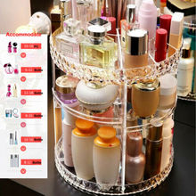 360-Degree Rotating Makeup Organizer Storage Box Case Cosmetics Jewelry Holder Multi-layer Boxes