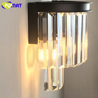 FUMAT Modern Wall Lamp LED luminaria Crystal Light Fixtures Lustre Sconces For Wall Corridor bedroom Nordic Home Deco Wall Lamps