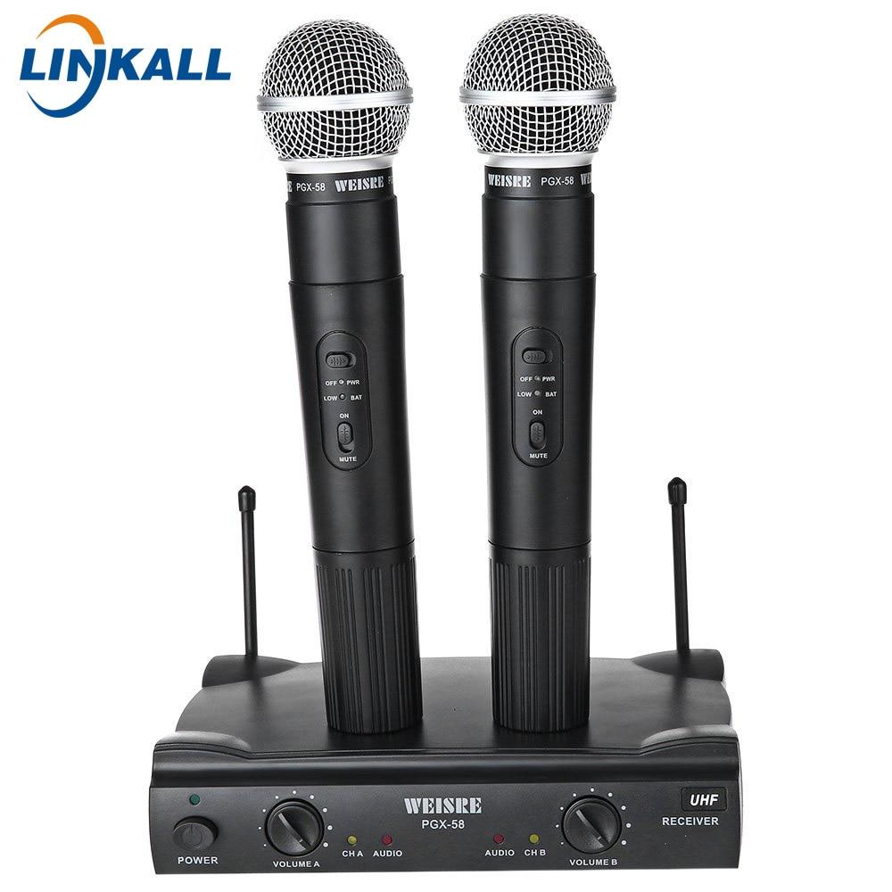 eu plug pgx 58 professional uhf dual wireless microphone dynamic vocal mic system for karaoke. Black Bedroom Furniture Sets. Home Design Ideas