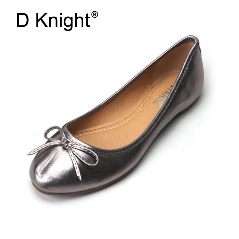 Bowtie Summer Ballet Flats 2018 Shallow Mouth Loafers Hollow Ladies Casual Platform Shoes Woman Slip On Women Shoes Size 35-41 akexiya casual women loafers platform breathable slip on flats shoes woman floral lace ladies flat canvas shoes size plus 35 43