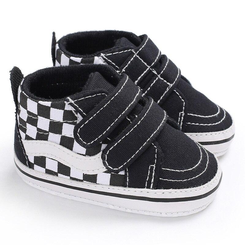 Fashion Kids Sneakers Baby Boys Shoes High Top Solid Soft Sole First Walker Infant Toddler Antislip Prewalker Crib Footwear Shoe