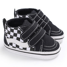Fashion Kids Sneakers Baby Boys Shoes High Top Solid Soft So