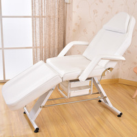 Massage Facial Table Bed Chair Beauty Spa Salon Equipment White Leather Multi Purpose Salon Chair