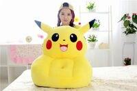 stuffed yellow pikachu sofa toy cartoon pikachu design floor seat tatami about 50x45cm s1960