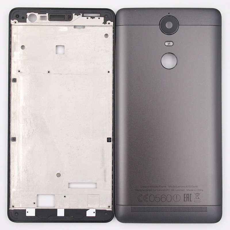 BaanSam New LCD Front Frame Battery Back Cover For Lenovo K5 NOTE A7020a48  K52e78 K52t38 Housing Case With Power Volume Buttons