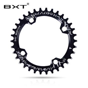 BXT دراجة 104BCD كرنك جولة 32 T 34 T 36 T 38 T ضيق واسعة سلسلة عجلة MTB الدراجة Chainring شحن مجاني