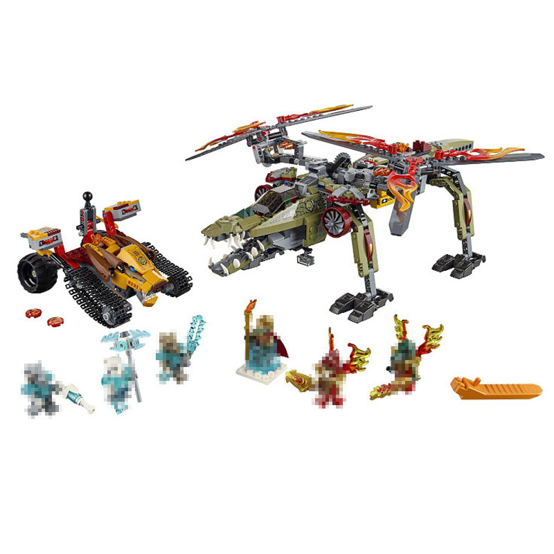 Compatible with lego 70277 Models building toy 10358 836PCS The King Of Crocodile Golden Lion Building Blocks toys & hobbies