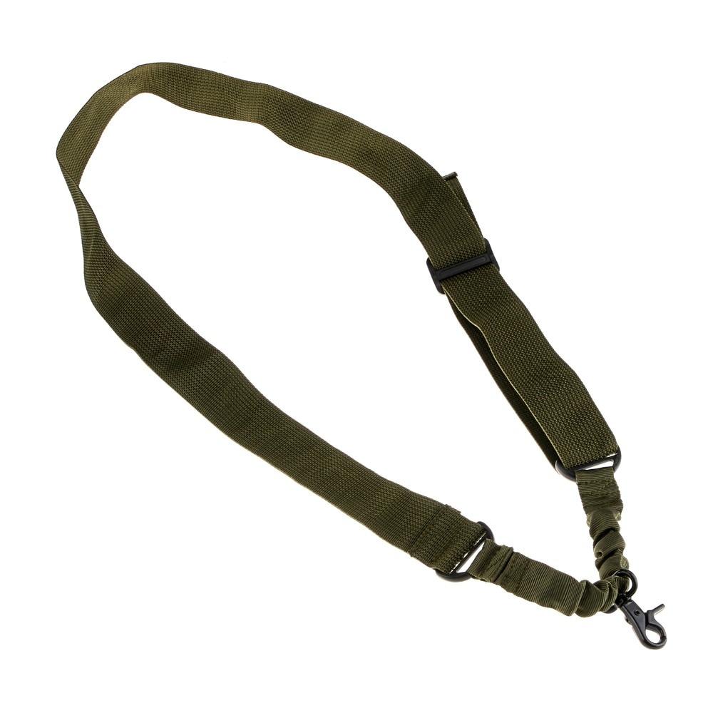 1Pcs Green Tactical Single Point Sling Airsoft Gun Tali Rifle Tali - Memburu
