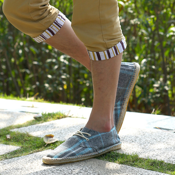 WOLF WHO Men Shoes Slip On Espadrilles Men 2018 Summer Canvas Hemp Rope Shoes Men Breathable Men's Footwear Zapatos Hombre W-024 1