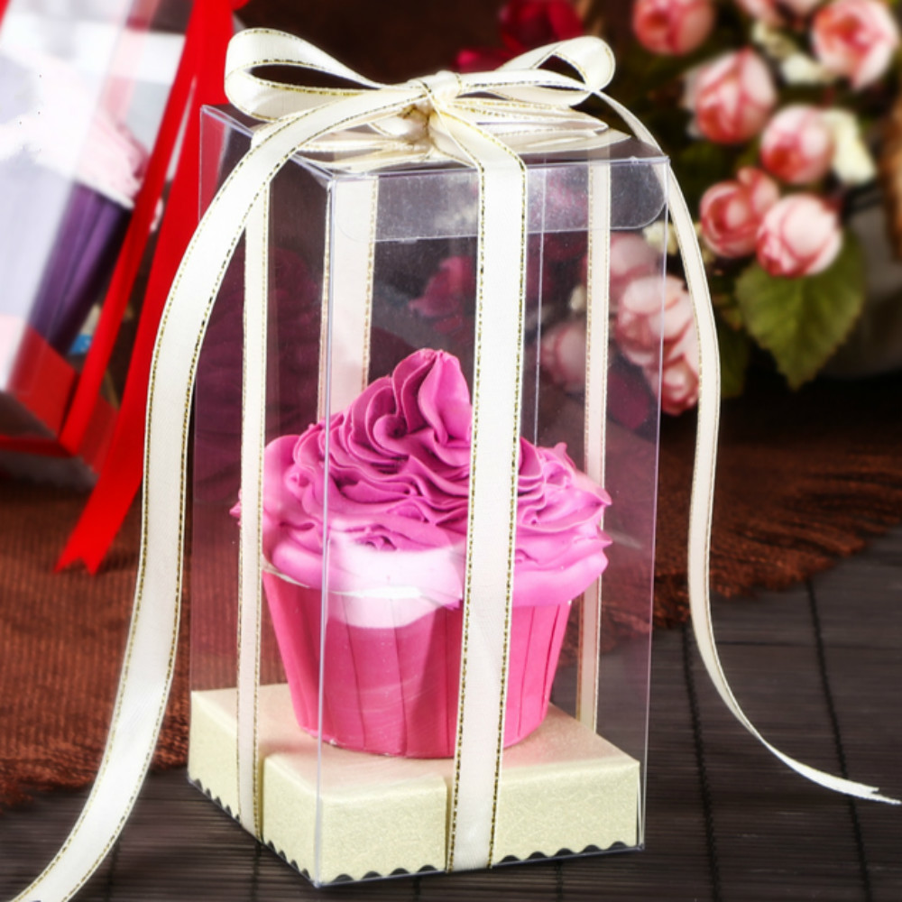 Mini Wedding PVC Cupcake Boxclear Gift Craft display Box Small ...
