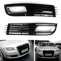 Areyourshop 1 Pair ABS Car Lower Bumper Grille Fog Light Grill Chromed For Audi A8 D3 2008 2009 2010 Car Accessories Parts