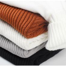 Свитер с высоким воротом, мужской шерстяной пуловер и свитеры для мужчин, полосатый мужской свитер с высоким воротом, повседневный теплый джемпер высокого качества