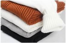 Pull à col roulé en laine pour homme, chandail à rayures, décontracté, thermique, de haute qualité