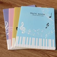 1 Uds. 36 hojas de libro creativo de la música de la hoja de la manera del Piano Simple cuaderno de la música para el estudiante libro práctico del ejercicio de la música