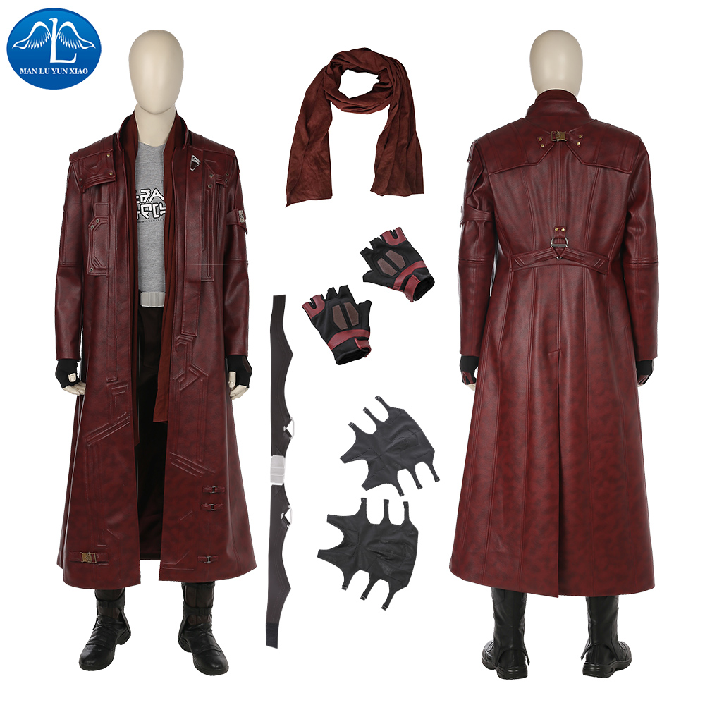 ManLuYunXiao New Guardians Of The Galaxy 2 Cosplay Costume Men Star Lord Costume Halloween Cosplay Costumes For Men Custom Made