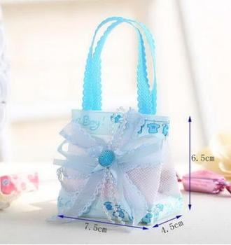 Baby festive products creative sugar box gift bags DIY candy snow yarn bag manufacturers wholesale decoration crafts wholesale
