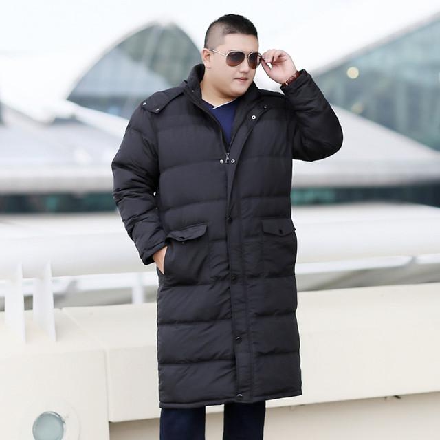 Winter plus size oversize code long section jacket big size male shut coat 10XL 9XL 8XL