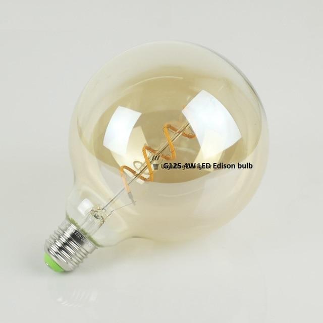 g125 edison spiraal gloeidraad led lamp 4 w dimbare led lampen voor vintage edison hanglamp 220
