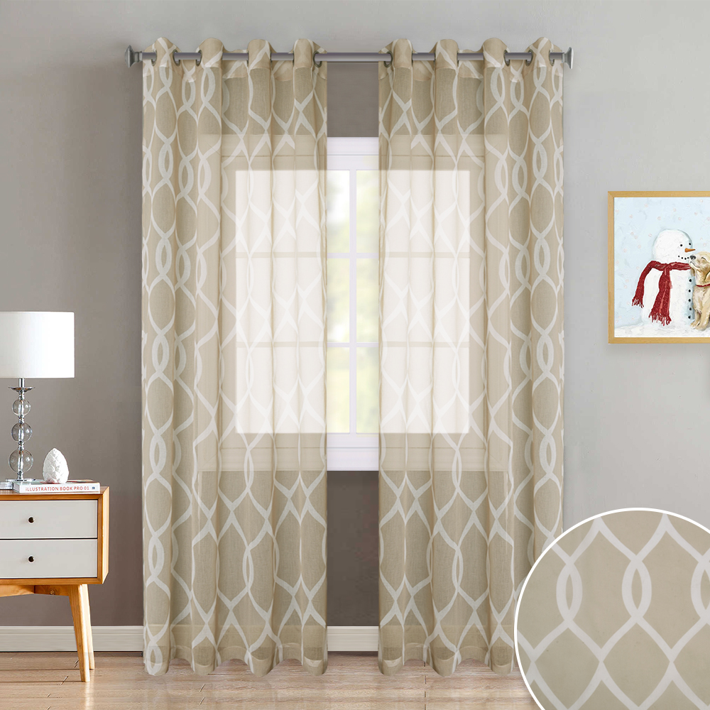 Privacy Curtain For Bedroom Us 13 48 46 Off Nicetown 3 Colors Moroccan Pattern Trellis Design Bedroom Window Privacy Translucent Voile Sheer Curtain Drapes For Dining Room In
