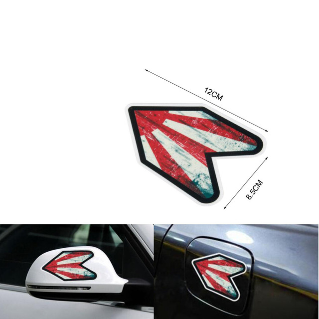 Car modified car exterior supplies body arrow stickers for mazda 6 mps for mazda 3 mps