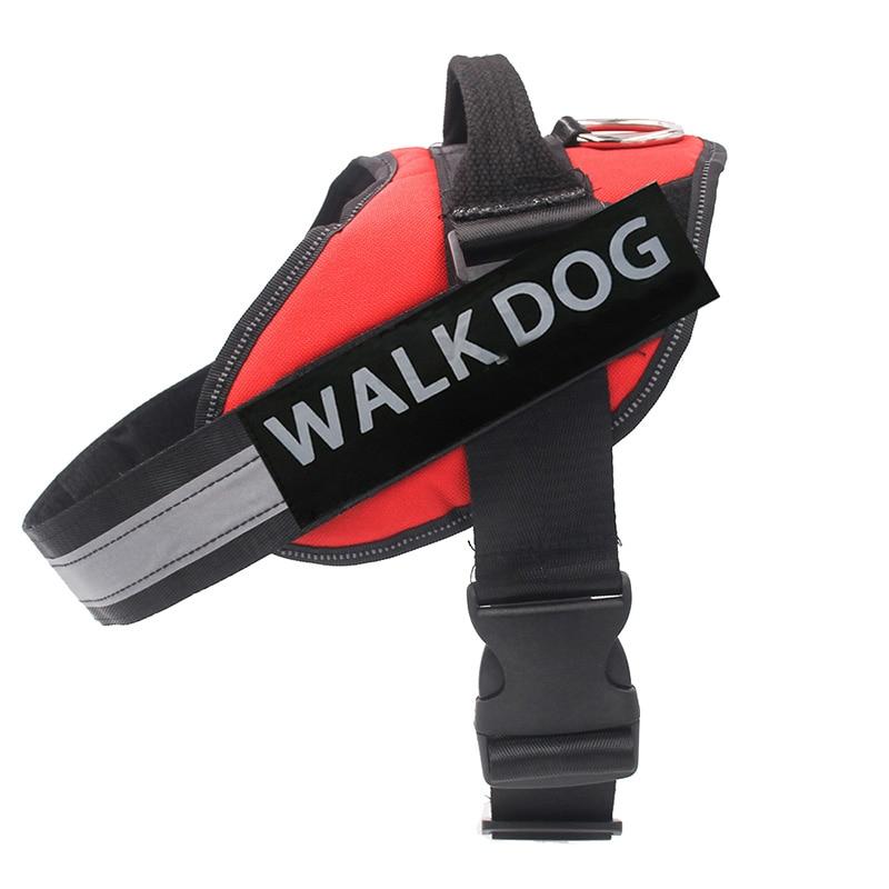 Dog Harness Breathable Pet Harness Vest Dog Collars for Small Medium Big Dog Nylon Dog Lead Belt Pitbull Bull Terrier Rottweiler6
