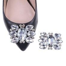 3da8fd7fc1868 1 قطعة النساء حذاء من الكريستال مشبك الزفاف أنيقة حفلة موسيقية حجر الراين  مشابك للأحذية أزياء زينة اكسسوارات