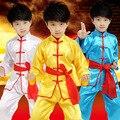 2017 Высокое качество Вин Чун Тай Чи Боевых Искусств Clothing набор Китайский Тан Костюм Дети Кунг-Фу Одежда Форменная Набор дети
