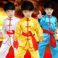 2017 Superior quality Wing Chun Tai Chi Martial Arts Clothing Set Chinese Tang Suit Kids Kung Fu Clothes Uniform Set children