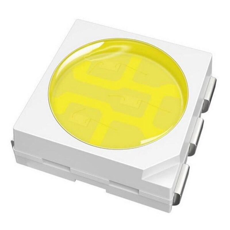 100pcs 5050 LED SMD Bead 3v High Power Light 0.2W Chip White 6000k Warm White 3000k Nature White 4000k 10-12lm