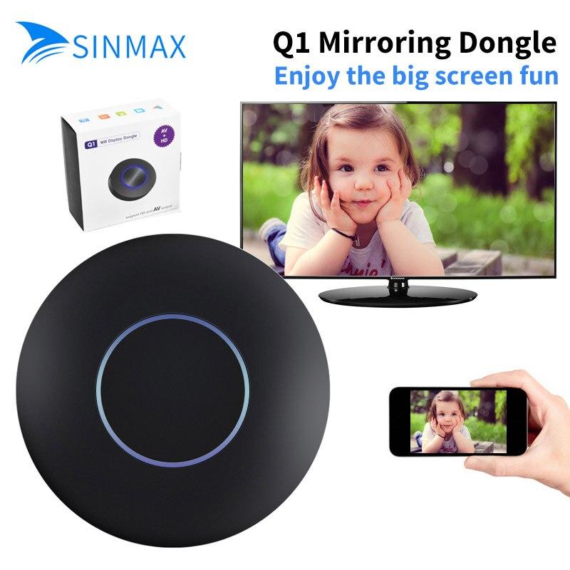 Q1 Wireless WiFi Anzeige Dongle Empfänger 1080 P HD TV Stick Airplay Miracast Media RK3036 Adapter Media für Google Chrome 2