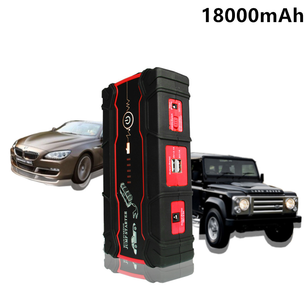 2018 Car Jump Starter 18000mAh Portable Starting Device Power Bank 800A Diesel Petrol Car Charger For Car Battery Booster Buster цены
