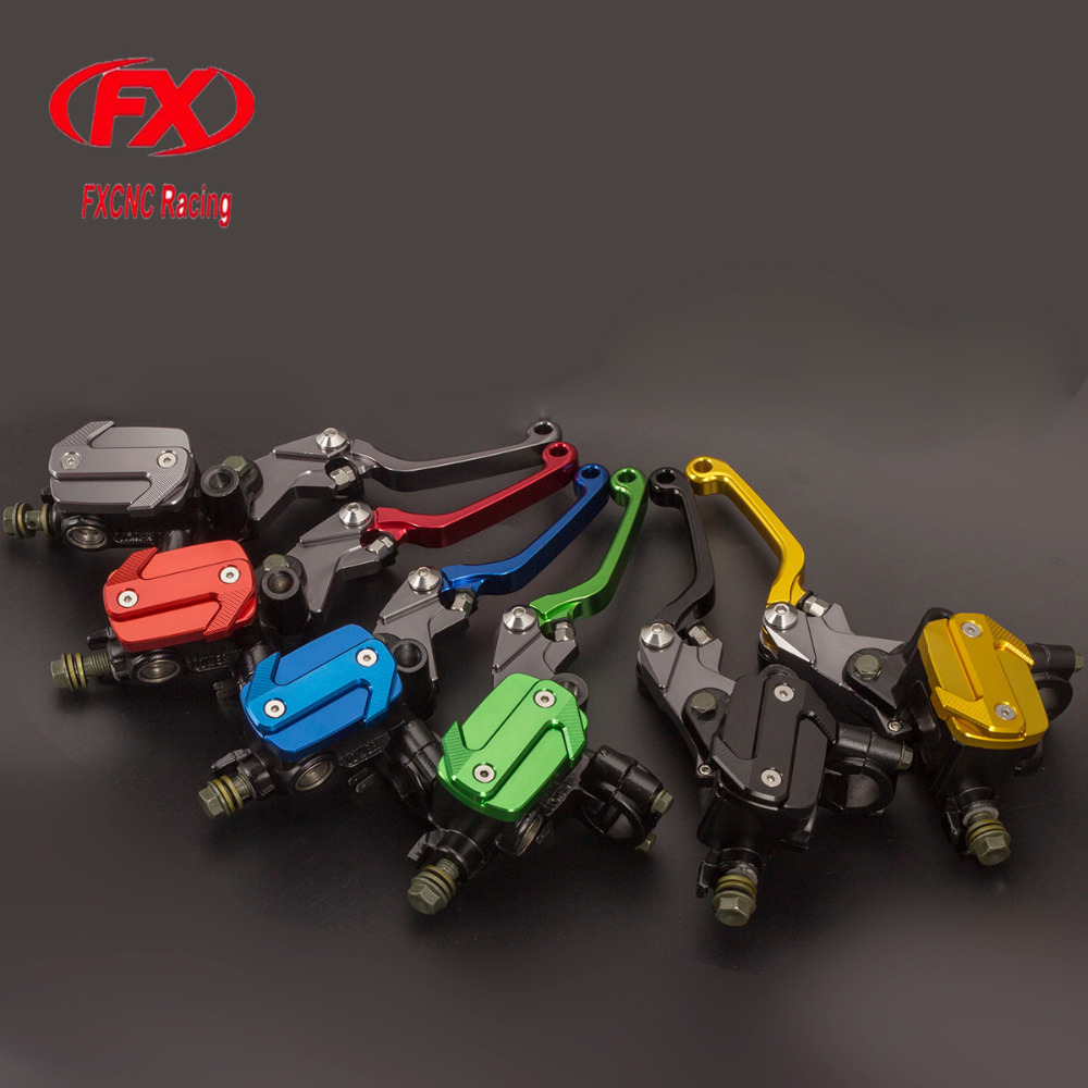 FX 7/8 50-550cc Dirt Pit Bike Motocross Brake Clutch Lever Master Cylinder Reservoir Set For Yamaha TDR 240 1988 Motorcycles