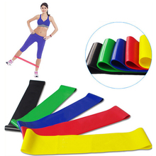5 Color Body Building Yoga Stretch Bands Belt Fitness Rubber Band Elastic Exercise Straps Indoor Sport Gym Pull Up P15(China)