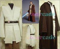 Star Wars Jedi Master Obi Wan/Ben Kenobi Cosplay Tunic Suit Costume Customized
