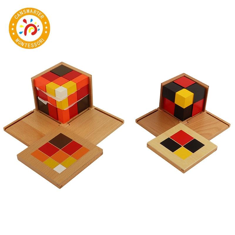 Montessori matériel mathématiques jouet algébrique binôme Cube trinôme Cube jouets de la petite enfance