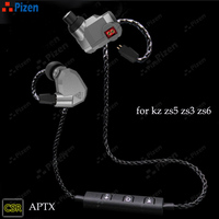 New PIZEN BT66 CSR8645 Support Aptx For Kz Zs3 Zs5 Zs6 Zst Bluetooth Replace Mmcx Cable