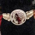 Женская мода широкий эластичный ремень металл квадратные пряжки глава монета waistbelts женский резьба широкий ремни платье упругие оби роскошь