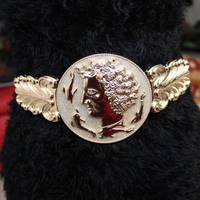 Женская мода широкий эластичный ремень металл квадратные пряжки глава монета waistbelts женский резьба широкий ремни платье упругие оби роскош...